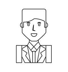 businessman profile cartoon vector image