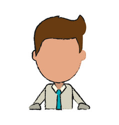 Businessman with rolled up sleeves avatar icon vector