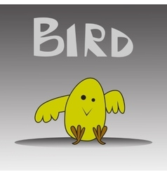 cartoon happy yellow bird vector image