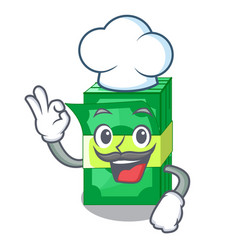 chef stack of dollars isolated on mascot vector image