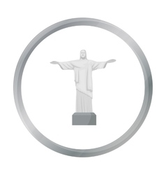 Christ the Redeemer icon in cartoon style isolated vector image