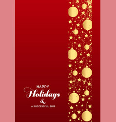 Christmas banners set with fir branches with gold vector