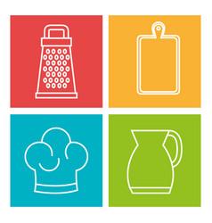 Colorful kitchenware design vector