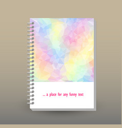 cover of diary pastel color spectrum polygonal vector image