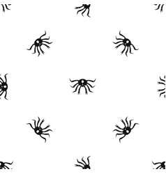 crab seafood pattern seamless black vector image