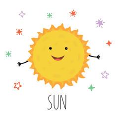 cute sun for children vector image