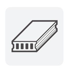 Deck slab icon vector