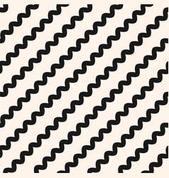 Diagonal wavy lines seamless pattern simple vector