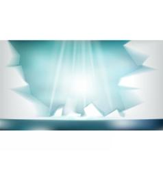 Digital abstract empty light frozen icy vector image