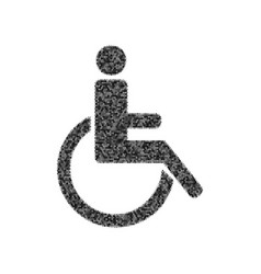 Disabled sign black icon vector