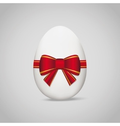 Easter egg with bow vector