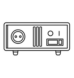 Electric stabilizer icon outline style vector