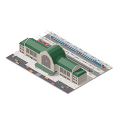 Elements of infographics passenger railway station vector