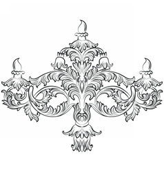 Fabulous Rich Baroque Classic chandelier vector