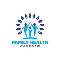 Family health logo designs vector