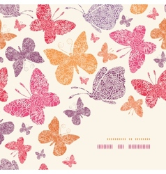 Floral butterflies corner decor pattern background vector