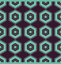 Geometric retro seamless pattern vector
