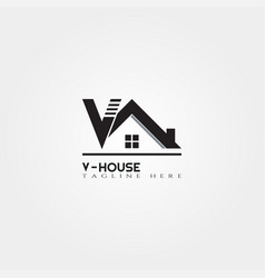 House icon template with letter home creative vector