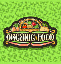 Logo for organic food vector