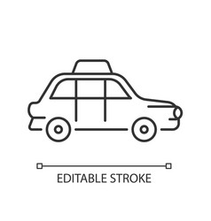 london cab linear icon vector image