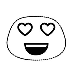lovely face emoji character vector image