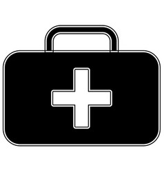 Medical case the black color icon vector