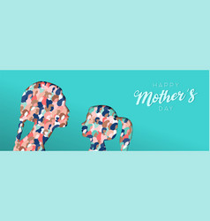 mothers day papercut card of woman and daughter vector image