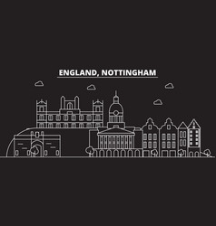 nottingham silhouette skyline great britain vector image