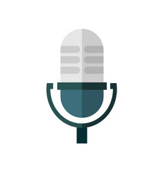 Old microphone speak graphic vector