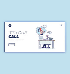 Online support customer service and call center vector