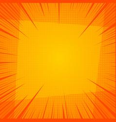 orange explosive and burst template vector image