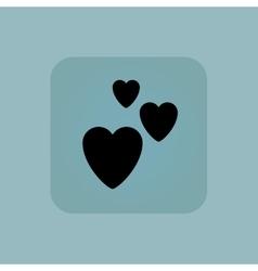 Pale blue love icon vector