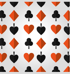 poker casino hazard design seamless pattern vector image