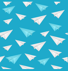 realistic detailed 3d paper aircraft seamless vector image