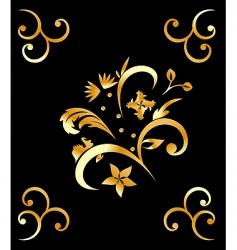 royal gold pattern vector image