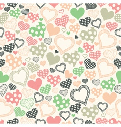seamless pattern with hearts on a light background vector image