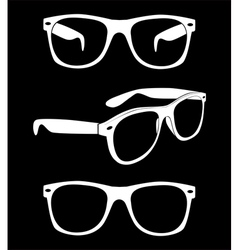 set hipster sunglasses vector image