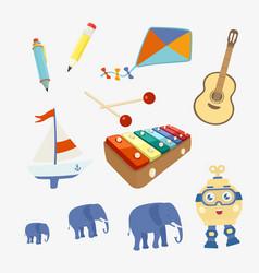 Set of symbols toy vector