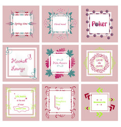 set of typographic backgrounds motivational vector image