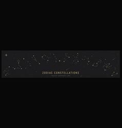 set zodiac constelattions vector image