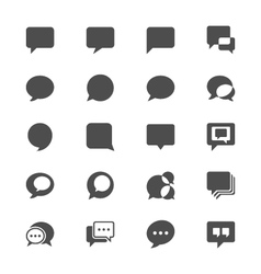 Speech bubble flat icons vector