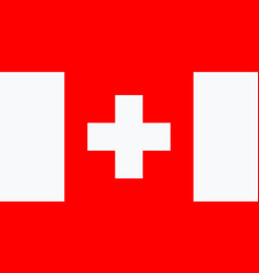 Swiss national flag is isolated in official vector