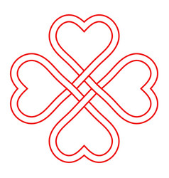 Symbol love and good luck interlacing knot vector