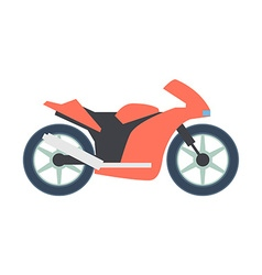 Transport flat bike icon isolated on white vector