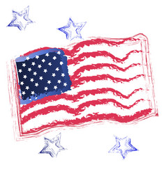 usa flag and stars icon vector image