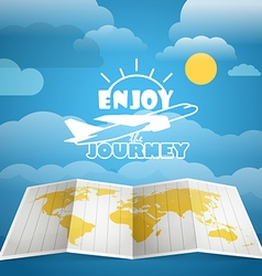 Vacation concept Injoy a journey vector