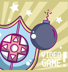 Videogame cartoon concept vector