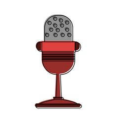 vintage microphone symbol vector image
