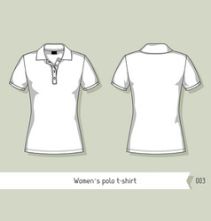 Women polo t-shirt Template for design easily vector