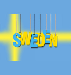 Word sweden hang on ropes vector